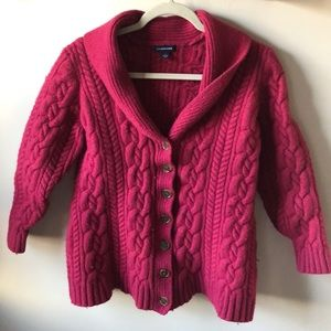 🎉 Land's End Wool Cardigan
